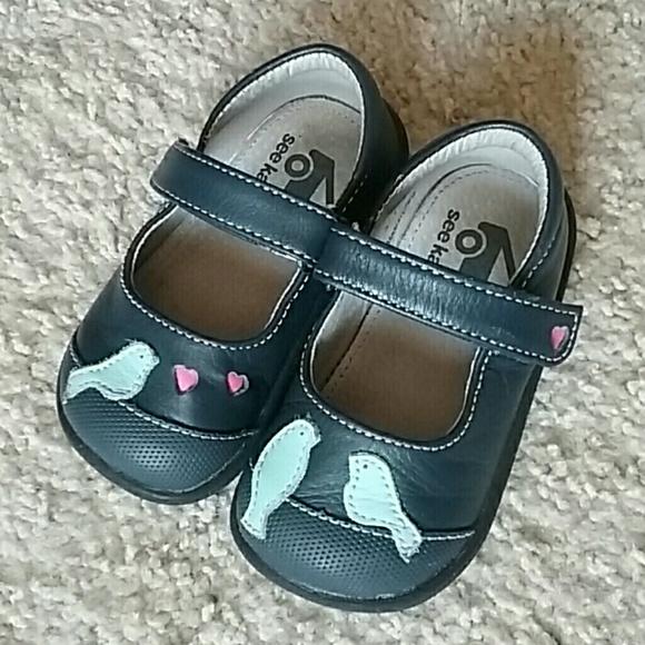 See Kai Run Girls Navy Blue Bird Shoes